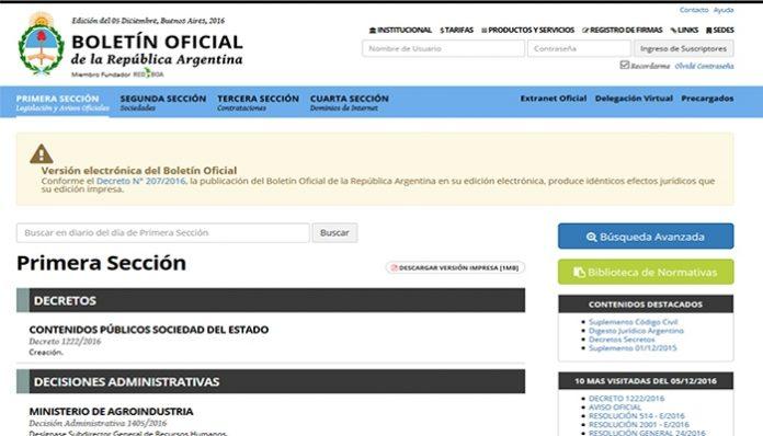 sociedades productores boletín oficial