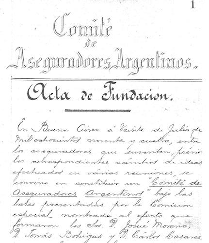 acta fundación asociación argentina compañías seguros