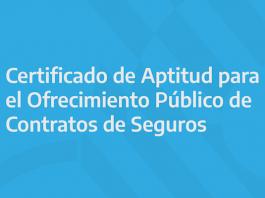 informacion certificado aptitud ssn