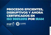 sspv certificación iso 9001:2015 iram