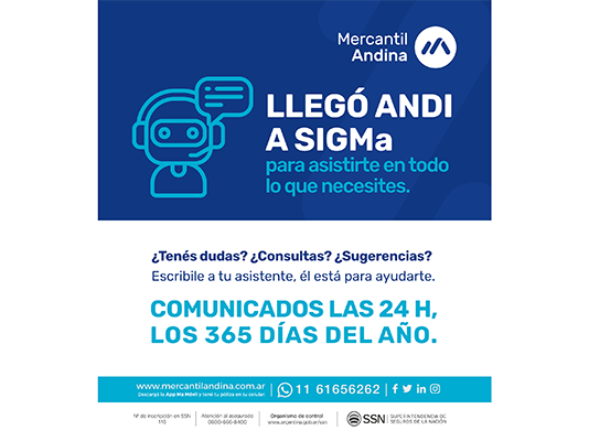 mercantil andina bot productores portal gestión sigma